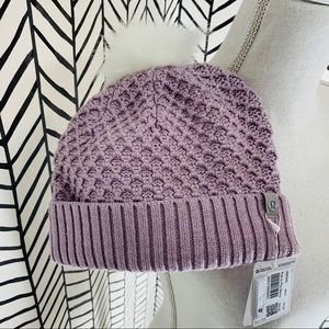 lululemon Pom to play beanie hat heather pink